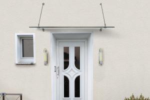 Panther Glas - Panther No. 1: Vordach mit Punkthaltern aus Edelstahl