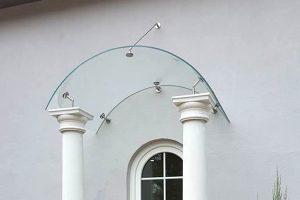 Panther Glas - Swing: Vordach mit gebogenem Glas