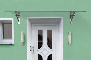 Panther Glas - Bajo: Vordach mit Rohrträgern aus Edelstahl